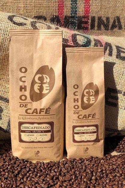 Ocho de café. Descafeinado 100% Arábica