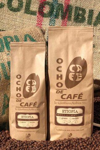 Ocho de café. Gourmet Etiopia mezcla con Caracolillo